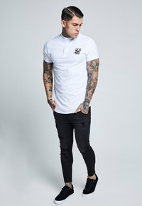 SIKSILK - GRANDAD COLLAR - T-shirt basic - white - 1