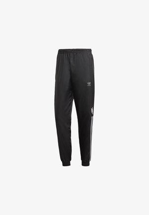3D TREFOIL 3-STRIPES TRACKSUIT BOTTOMS - Tracksuit bottoms - black