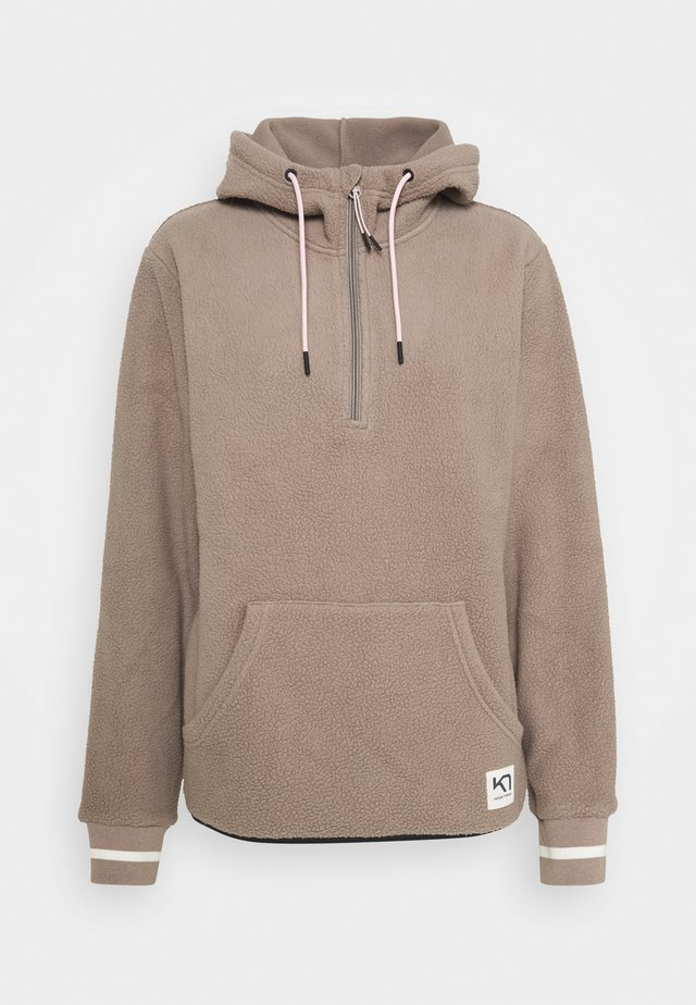 RØTHE HOODIE - Jersey con capucha - clay
