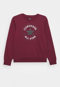 Converse - CHUCK PATCH CREW - Sweatshirt - dark burgundy - 1