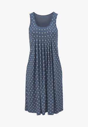 Day dress - blau-bedruckt
