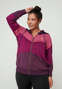 Active by Zizzi - AMONA - Zip-up hoodie - purple - 0