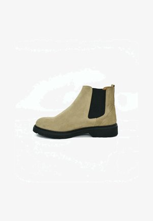 Classic ankle boots - beige suede