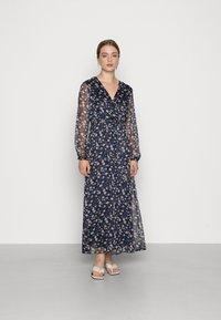 Vila - VIALVIA ANKLE DRESS - Maxi dress - navy blazer - 0
