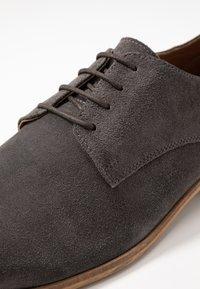 Zign - LEATHER  - Smart lace-ups - dark gray - 5