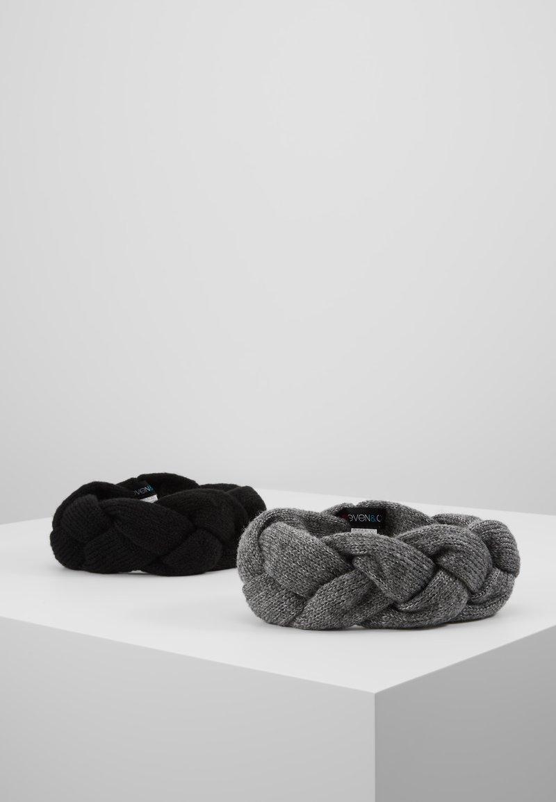 Even&Odd - 2 PACK - Ørevarmere - grey/black