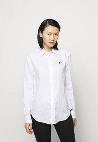 Polo Ralph Lauren - PIECE DYE - Button-down blouse - white - 0