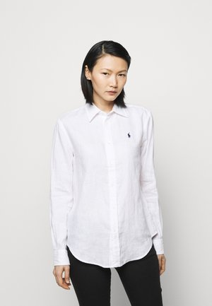 PIECE DYE - Button-down blouse - white