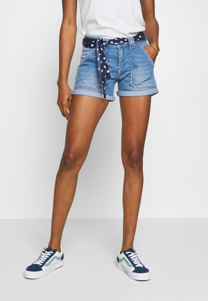 BLOOM - Shorts di jeans - blue