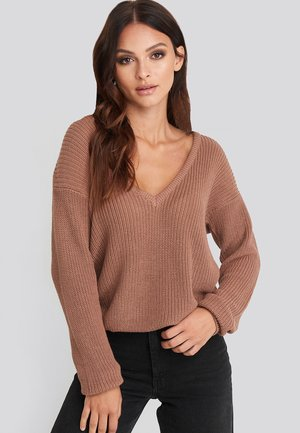 Pullover - dusty dark pink