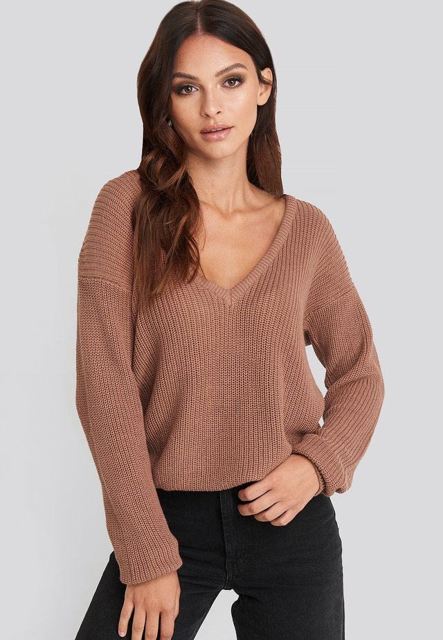 Jumper - dusty dark pink