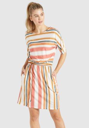 GABY - Jersey dress - mehrfarbig gestreift