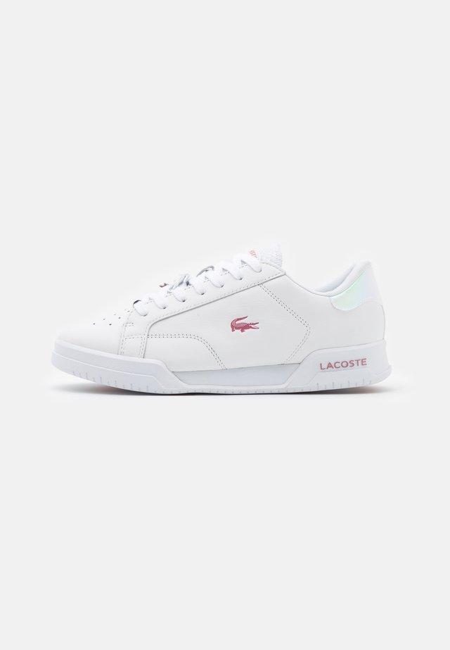 TWIN SERVE - Sneakersy niskie - white/light pink