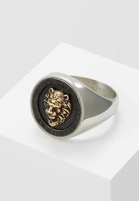 Guess - LION HEAD COIN - Ring - silver-coloured/gold-coloured - 4