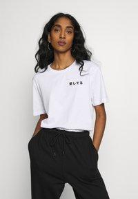 YOURTURN - UNISEX - T-shirt imprimé - white - 3