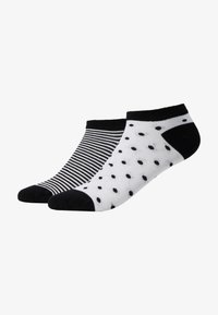 camano - ONLINE WOMEN FASHION FEELING SNEAKER 4 PACK - Socks - black - 1