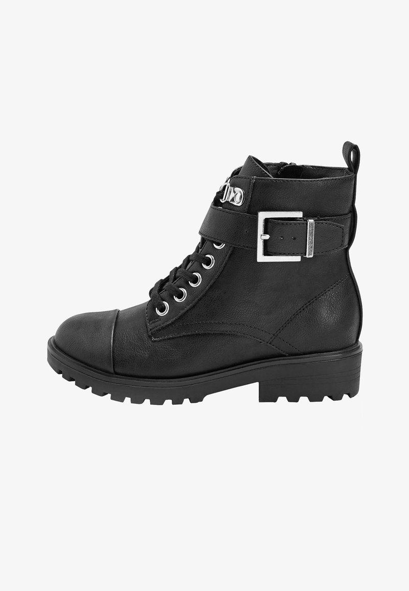 Next - Šněrovací kotníkové boty - black
