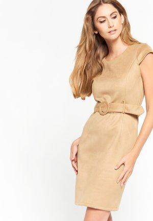 Shift dress - camel