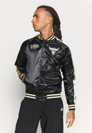 NBA CHICAGO BULLS COLOR BLOCKED JACKET - Artykuły klubowe - black/gold