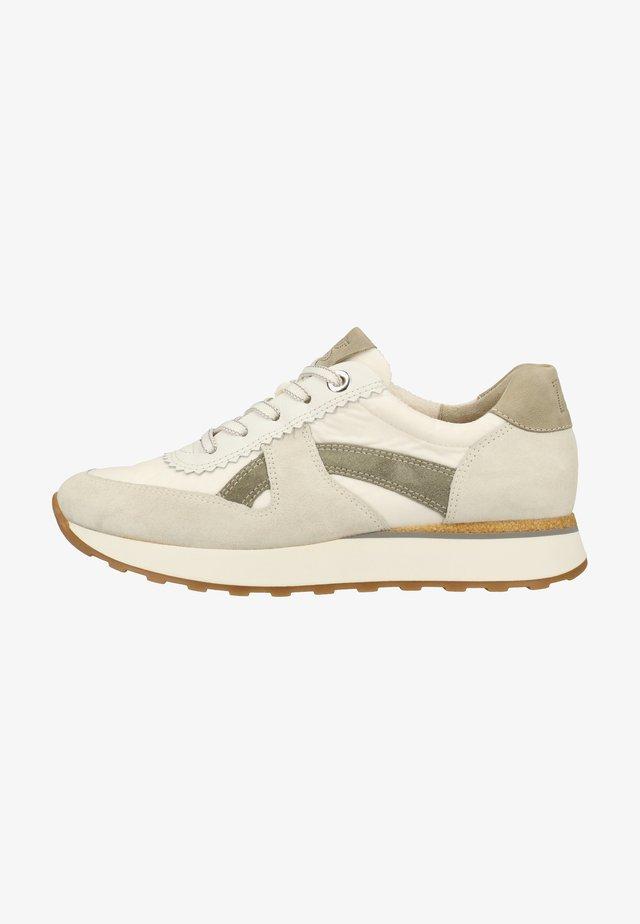 Sneakers laag - grau/weiß