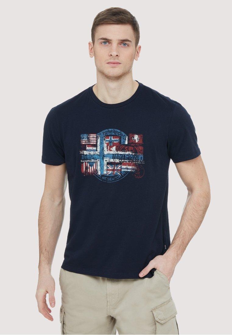 Napapijri - SEY - Print T-shirt - dark blue