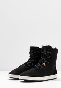 HUB - CHES 2.0 - Lace-up ankle boots - black/offwhite - 4
