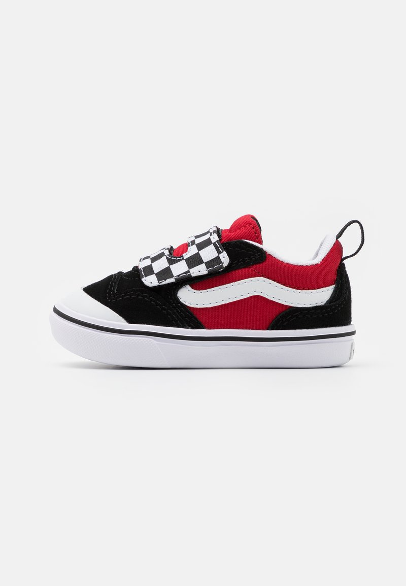 Vans - COMFYCUSH NEW SKOOL - Baskets basses - black/red
