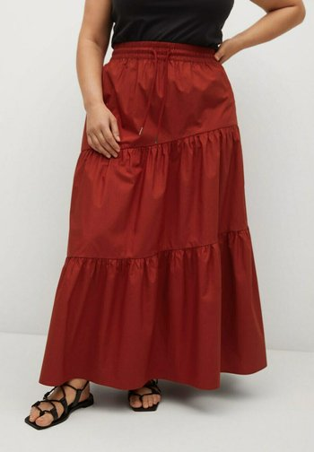 A-line skirt - rubinrot