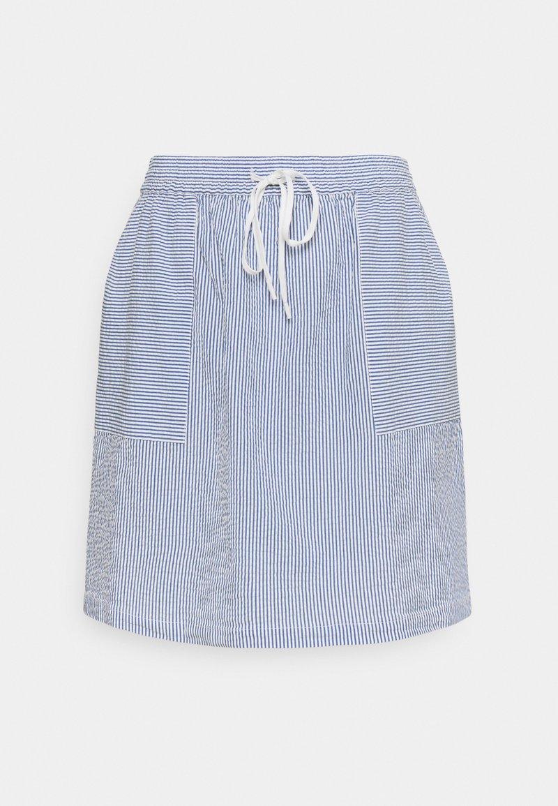 Marc O'Polo DENIM - ELASTIC INSIDE WAIST - A-line skirt - intense blue
