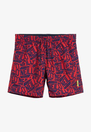 Swimming shorts - blue with red