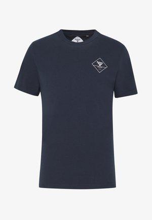 BOX LOGO TEE - T-shirt con stampa - navy