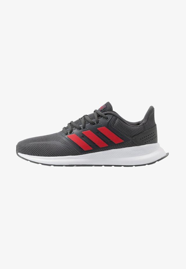 RUNFALCON - Scarpe running neutre - grey six/scarlet/footwear white