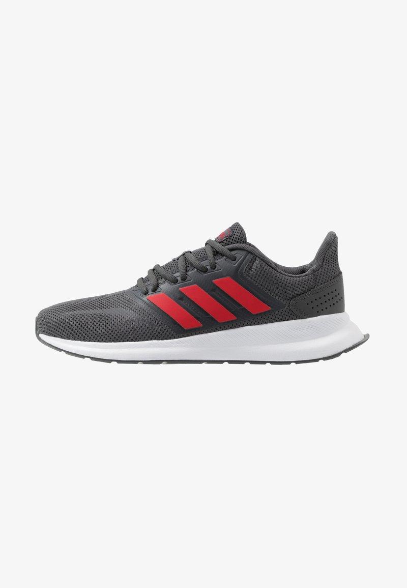 adidas Performance - RUNFALCON - Obuwie do biegania treningowe - grey six/scarlet/footwear white