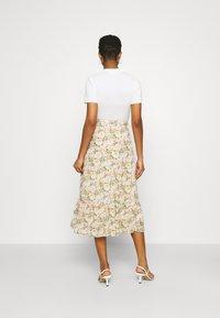 Vila - VIMILINA FLOWER SKIRT - Maxi skirt - sandshell - 2