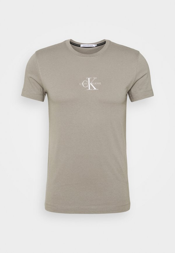 Calvin Klein Jeans NEW ICONIC ESSENTIAL TEE - T-shirt z nadrukiem - elephant skin/szary Odzież Męska WYFR