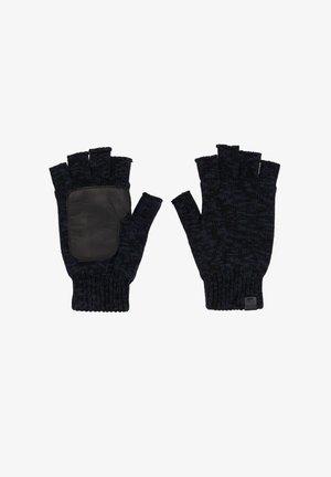 Fingerless gloves - navy twist