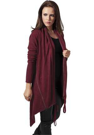 LADIES TERRY ZIP-UP CARDIGAN - veste en sweat zippée - burgundy