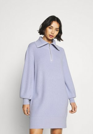 YASDALMA ZIP DRESS - Gebreide jurk - icelantic blue