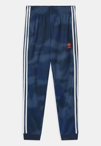 adidas Originals - CAMO SUPERSTAR UNISEX - Tracksuit bottoms - crew blue/white - 0