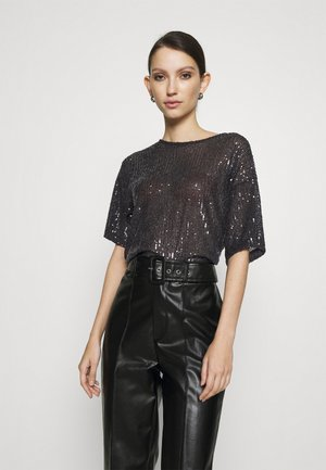 RUDY SEQUINS - Blouse - black