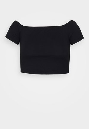 PAMELA REIF OFF SHOULDER  - Basic T-shirt - black