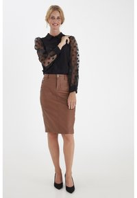 Fransa - FRNABURN - Button-down blouse - black - 1