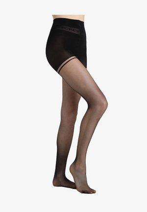 CONTROL TOP TIGHTS WITH LOGO DETAIL - Tights - black
