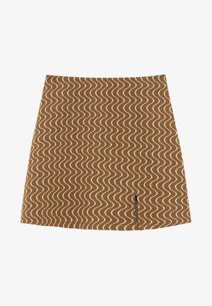 Mini skirt - mottled light brown