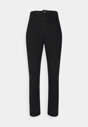 FRONT SEAM DETAIL - Jeans straight leg - black