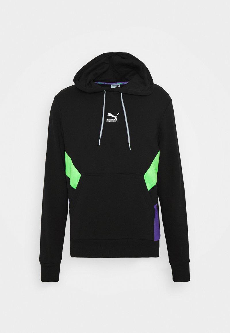 Puma - TFS  - Hoodie - black/fluo green