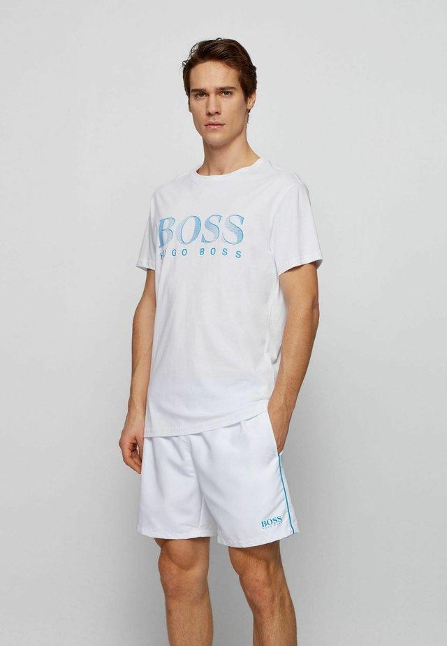 T-shirt med print - natural