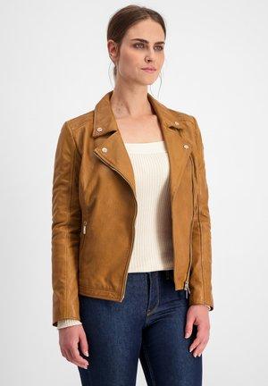 AMY - Leather jacket - cognac