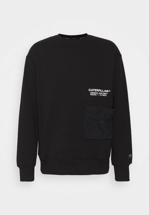POCKET ROUNDNECK - Sweatshirt - black