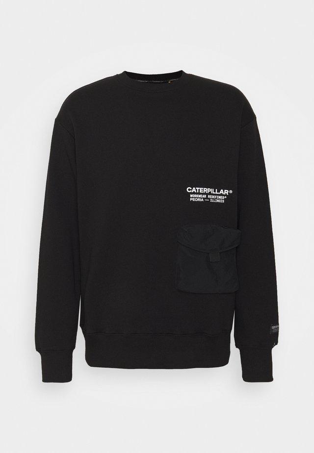 POCKET ROUNDNECK - Sweater - black